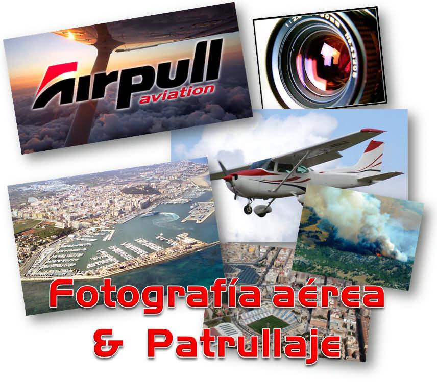 Collage sobre fotografia aerea y patrullaje